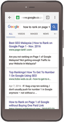 how to rank on page 1 of google